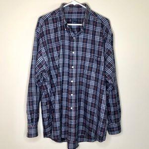 Burberry London mens plaid dress shirt size XL